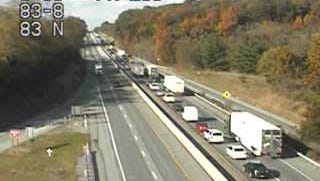 Northbound traffic is backing up on Interstate 83 near Glen due to a fuel spill.