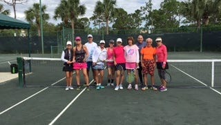 Tennis players took part in a round robin tennis tournament on Oct.27 at the Summerfield Tennis Courts.