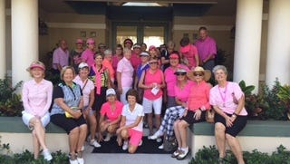 Forty-four golfers took part in a golf outing on Oct.17 at the Champions Club at Summerfield.