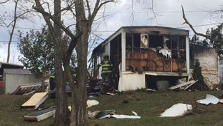 An early Sunday morning fire destroyed a Red Lion trailer on Route 74 just east of the boro sign.