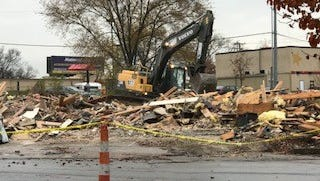 The Madison site where the state's first Shoney's restaurant was demolished.