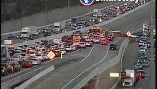 A wreck on Interstate 40 West has all lanes of traffic closed shortly before 6 p.m. on Friday.
