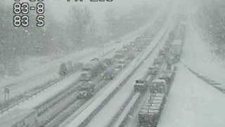 A crash is restricting traffic on I-83 Tuesday, March 20. Photo courtesy of 511pa.com.