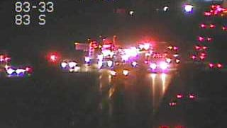 Emergency responders are on the scene of a crash on I-83 North between the Valley Green and Yocumtown exits.