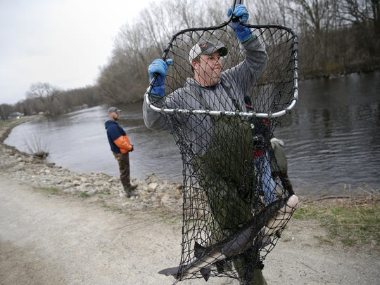 Jason Kohls, a fisheries technician with the Wisconsin