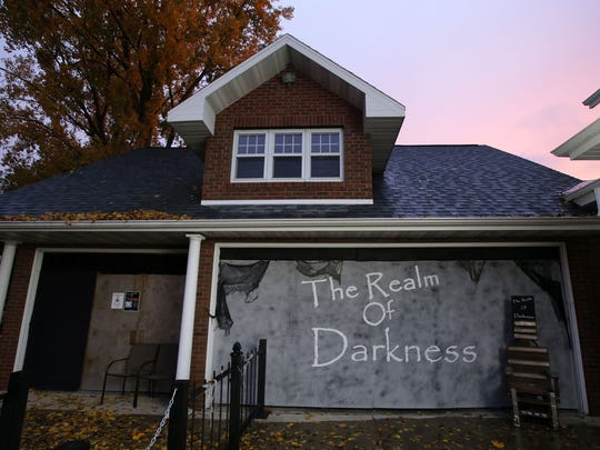 By day this house on West Wisconsin Avenue in Kaukauna is a family home. On weekends during Halloween season, it becomes The Realm of Darkness, all for a good cause.