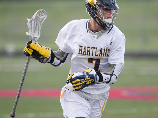 Hartland's Reece Potter had five goals and four assists