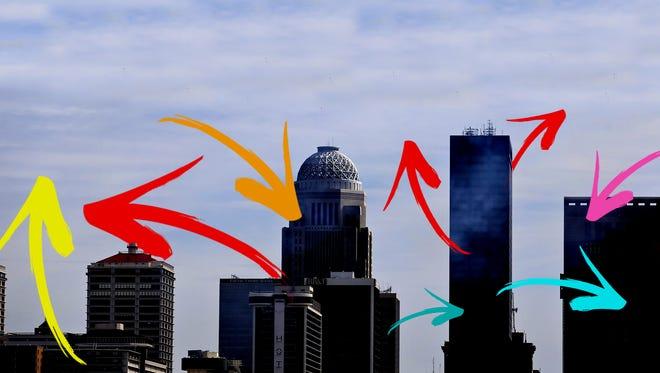 Skyline arrows