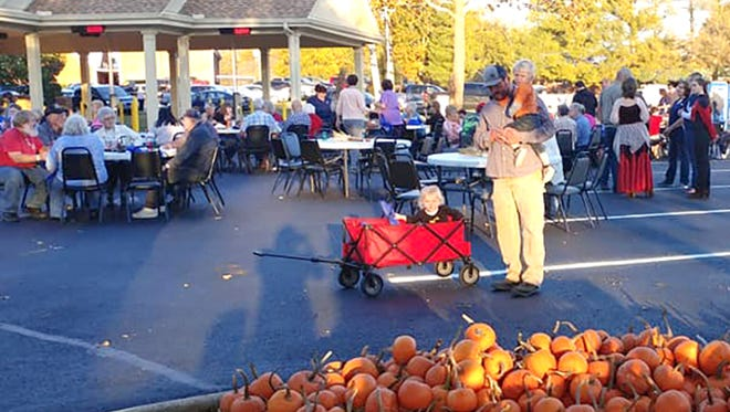 Apex Bank hosts a fall festival to celebrate the grand opening of their Fairview branch.