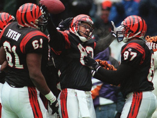Tight end Tony McGee played for the Bengals from 1993 to 2001.