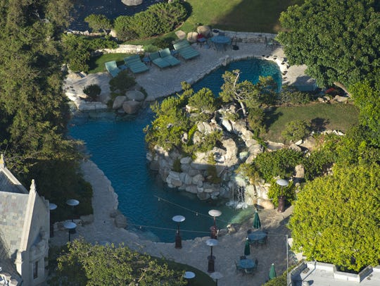 The Playboy Mansion includes a notorious cave-like