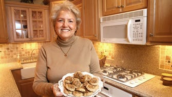 Joan Giesfeldt of Campbellsport won the Journal Sentinel's Holiday Cookies Contest with her Pecan Praline Thumbprints.