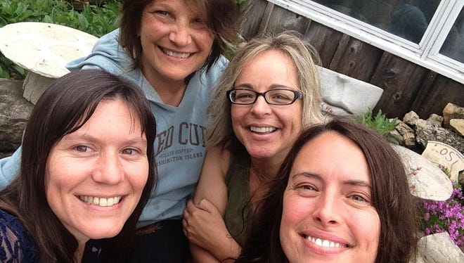 The galleries of Egg Harbor-based artists Anglea Lensch, Jeanne Kuhns, Ginnie Cappaert and Renee Schwaller, from left, host their second annual Progressive Art Crawl from 4 to 8 p.m. Aug. 4.