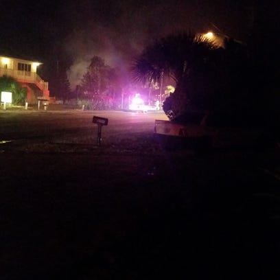 Fire destroyed a Fort Myers Beach duplex on Sunday