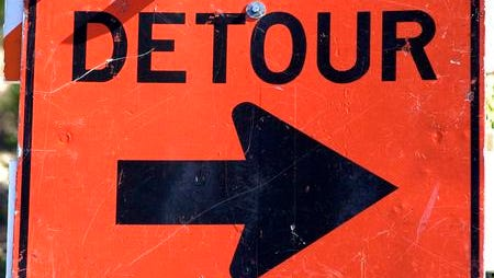 Route 206 southbound is closed in Hillsborough following a truck accident.
