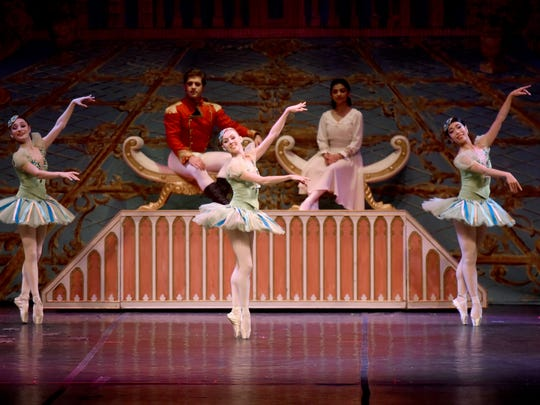 """Members of the New Jersey Ballet perform during """"The Nutcracker,"""" at Bergen PAC on Sunday, December 3, 2017."""