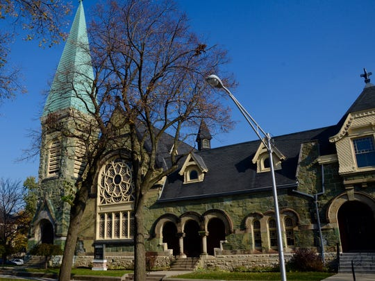The Greenstone Church in Chicago's Pullman Historic District was made with stone from Pennsylvania.