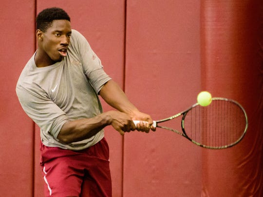 Terrance Whitehurst, older by a minute than his brother, is currently 10-7 on the season in singles play.