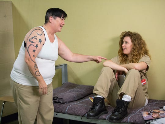 Lea DeLaria, left, and Natasha Lyonne in a scene from