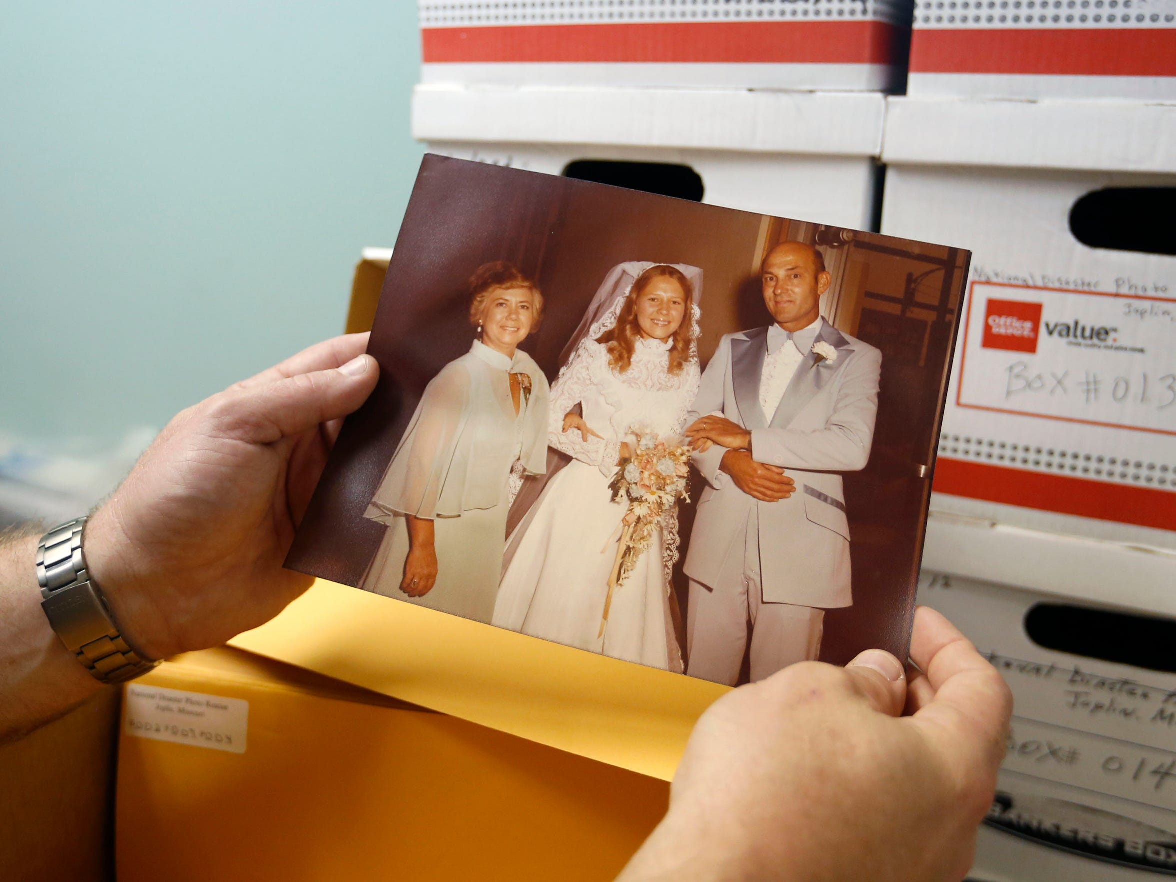 A wedding photo found after the 2011 Joplin tornado