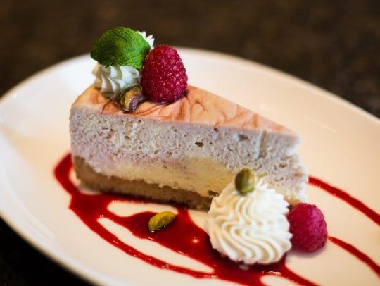 White chocolate raspberry cheesecake made by Robbi