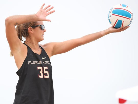 Florida State's Katie Horton finished with a career record of 75-17 in beach volleyball.