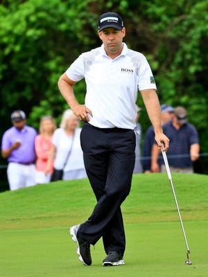 Erik Compton finished only six holes before the round was suspended.