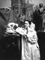 Sculptor Enid Yandell in 1902.