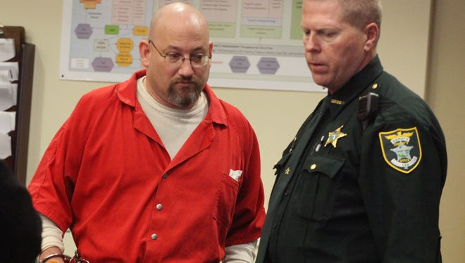 Mark Sievers appears in court for a DCF arraignment on Monday at the Lee County Justice Center.