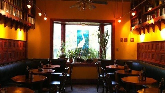 """A view of the """"Red Room"""" inside the Runcible Spoon."""
