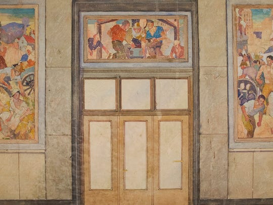 Rochester resident Nancy Miller Batty gave about 60 drawings she discovered in her parents' basement by Rochester artist Carl W. Peters to the Memorial Art Gallery. The work shows a fascinating look at Peters' prep work for his WPA murals.