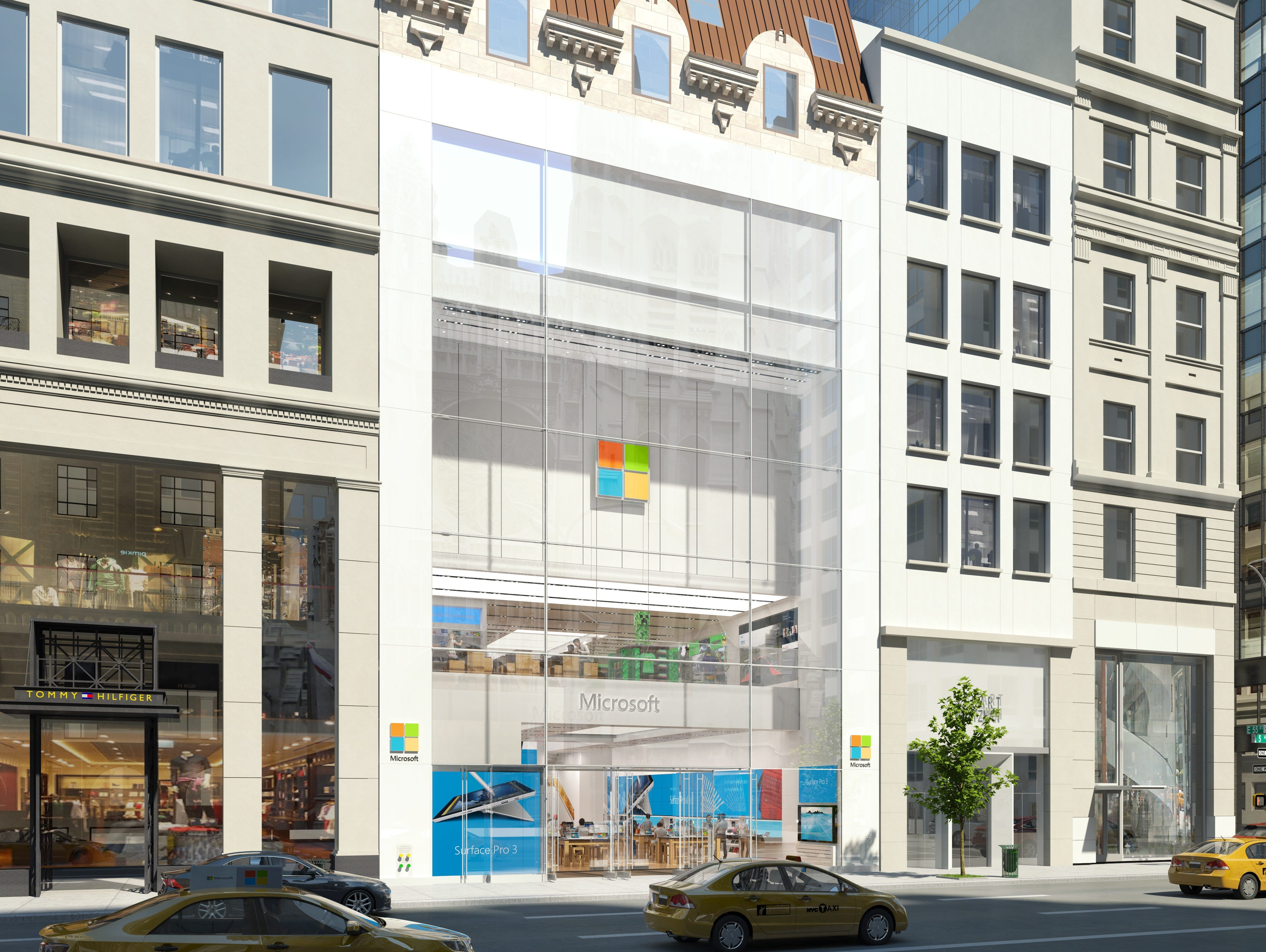 Rendering of Microsoft's new flagship store on Fifth Ave. in New York City