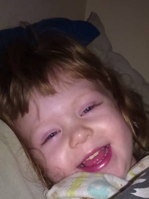 Delaney Mae-Lynn Jean Garner, daughter of Rebecca Drenth, was struck by a vehicle and killed on East Knollwood Circle on Monday evening.