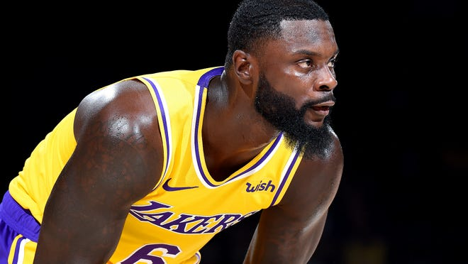 SAN DIEGO, CA - SEPTEMBER 30: Lance Stephenson #6 of the Los Angeles Lakers is seen against the Denver Nuggets during a pre-season game on September 30, 2018 at Valley View Casino Center in San Diego, California. NOTE TO USER: User expressly acknowledges and agrees that, by downloading and/or using this Photograph, user is consenting to the terms and conditions of the Getty Images License Agreement. Mandatory Copyright Notice: Copyright 2018 NBAE (Photo by Andrew D. Bernstein/NBAE via Getty Images)