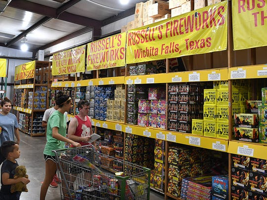 Russell's Fireworks Kingdom sells more than 450 types of fireworks  from sparklers and cakes to firecrakers and rockets.