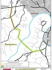 Plans for bypass with new bridge to replace McClure