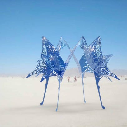 Burning Man sculptures might fill the lot left by two demolished motels