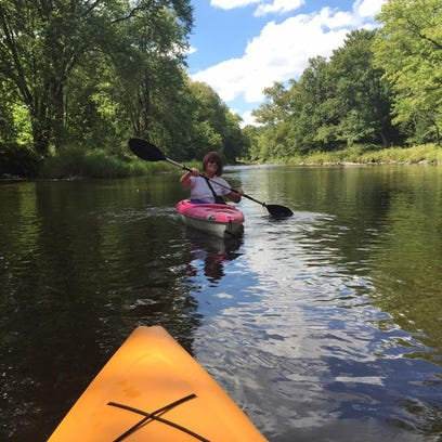 Paddling the Eau Claire River