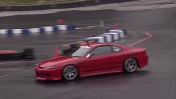 Nissan Silvia S15 on a test track in Japan