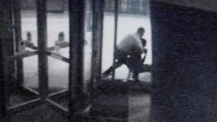 A snapshot taken from a surveillance camera shows the