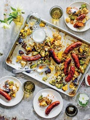 Roasted Sausage & Cauliflower with Cumin and Turkish