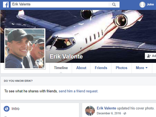 Erik Valente was certified as an airline transport