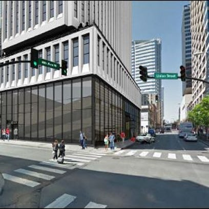 Exterior changes would be made to the building at 401