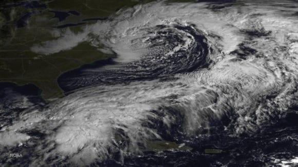 The nor'easter on Oct. 23, 2014