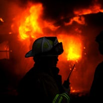 A house fire Tuesday damaged a home and two vehicles.