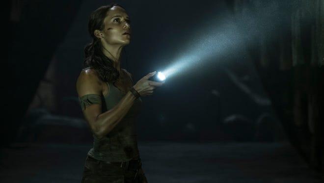 "Alicia Vikaner plays the intrepid Lara Croft in ""Tomb Raider."""