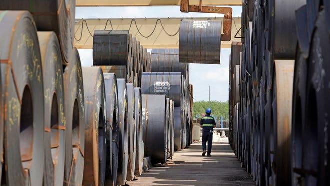 Steel mill in Baytown, Texas.