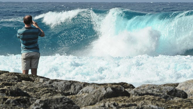 High surf conditions can make Guam's waters particularly dangerous.