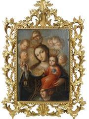 """""""Our Lady of Carmel"""" by José de Paez, c. 1790."""