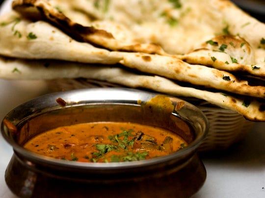 Chicken Tikka Masala and Naan bread from India Palace